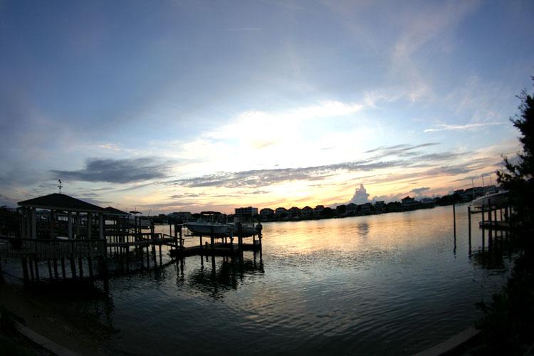 sunset waterway