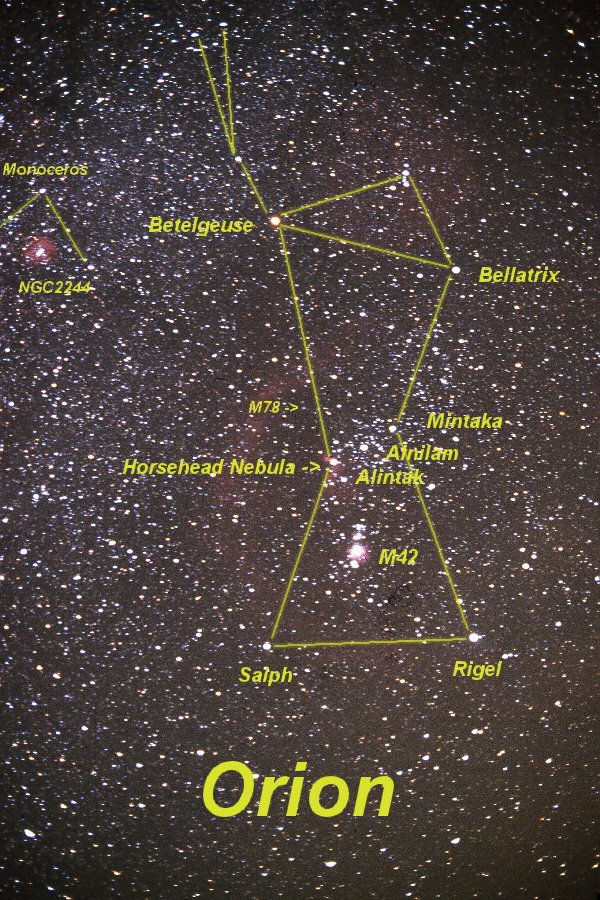 Orion constellation - Betelgeuse