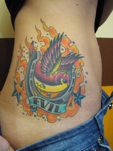 Evil Bird Tattoo
