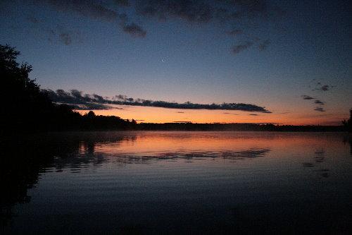 Sunrise over Big Clear Lake