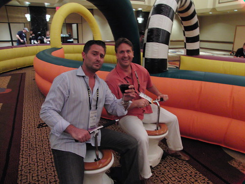 Todd Farmer and Beaudon Spalding on the Toilet Racers at Affiliate Summit East 2009