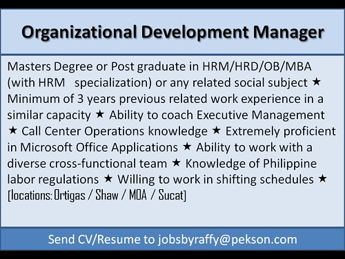 Organizational Development Manager