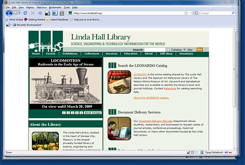 Searching Linda Hall Library Online
