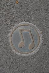 Llangollen sidewalk symbol