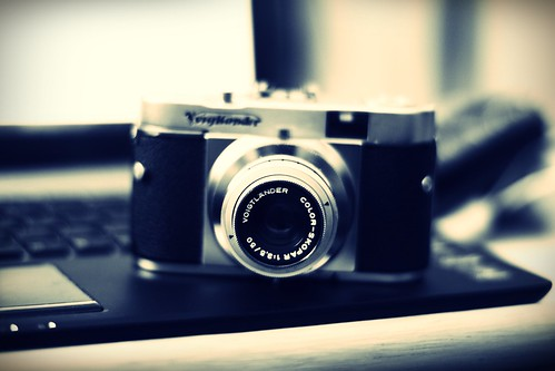 Voigtlander (1) My Vito B looks in BW by ir_hafidz