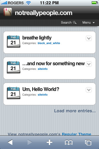 WPtouch - iPhone theme