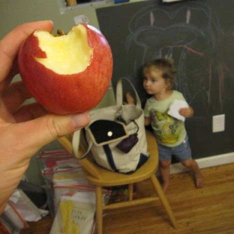 An apple, x2