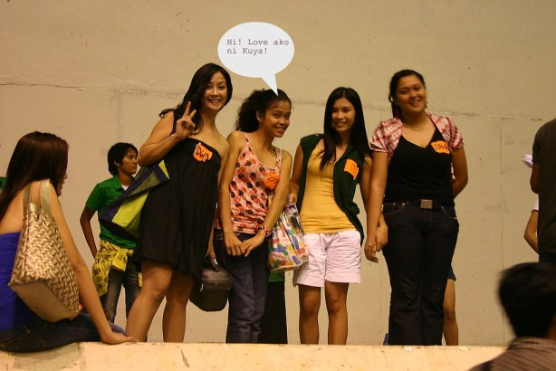 Thats Melissa and other 2nd Screening Passers, while waiting for their turn during PBB Auditions at the GenSan Gym.: