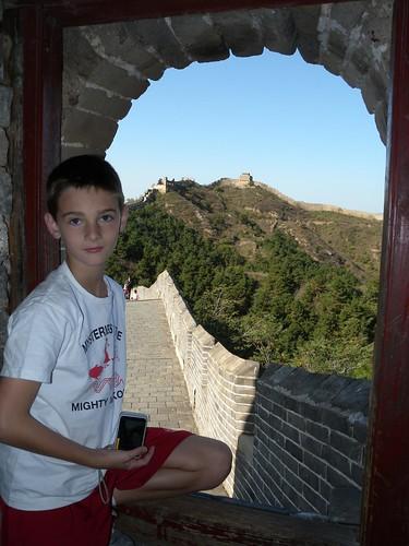 China - Jordan and a Great Wall window