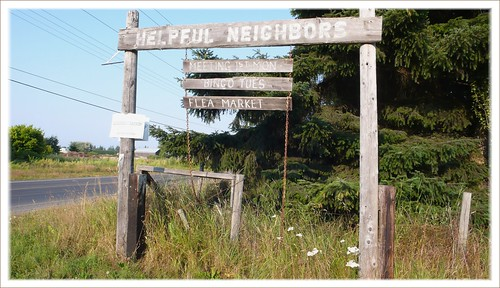 Church sign, Old Olympic Hwy., Sequim, WA.