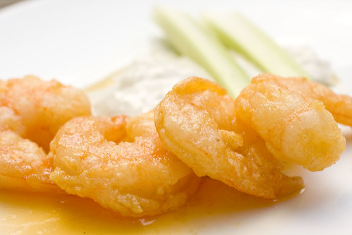Buffalo Shrimp by FoodMayhem.com.