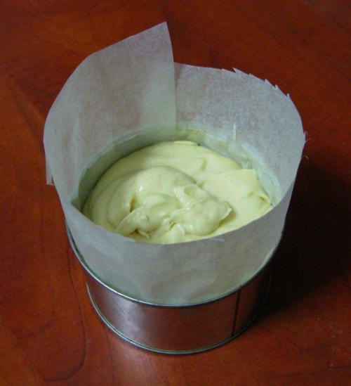 masa en el molde