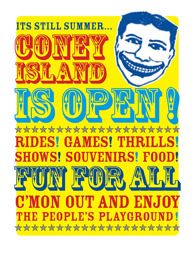 Its still summer...Coney Island is open! Fun for All. Image © brooklynnfoto via flickr