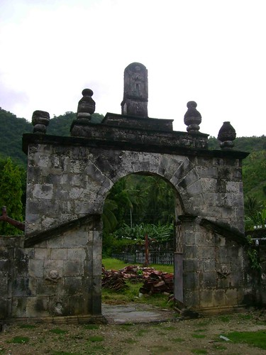 The centuries old cemetery gates