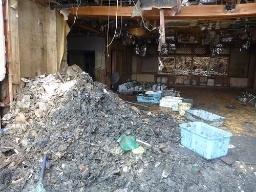 気仙沼市幸町で震災復興ボランティア Kesennuma, Miyagi pref. Deeply damaged coastal area by the Tsunami of Japan quake
