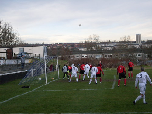 Shettleston take a corner