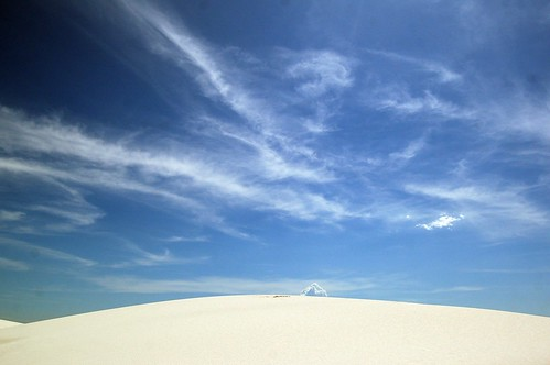 clouds at white sands