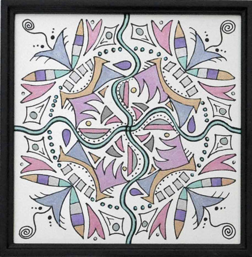 mandala 16 marker & ink on paper (c) 2009, Lynne Medsker