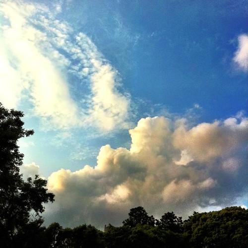 入道雲が…。#imasora #sunset