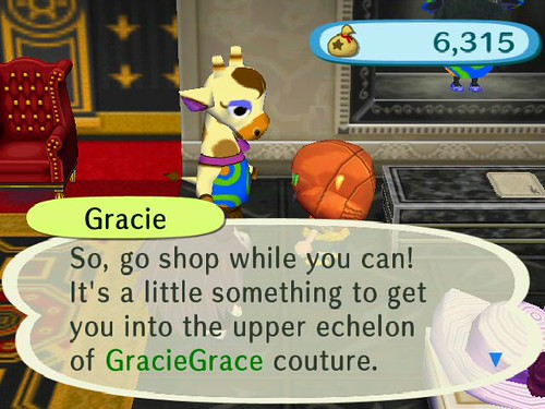 Gracie, after giving me a one-time 10% discount