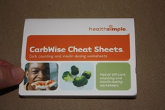 CarbWise cheat sheets - adhesive back