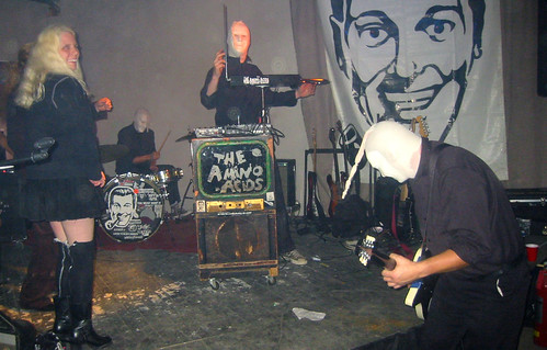 20081115 - SubGenius Devival in Baltimore - 171-7178 - Carolyn & chicks on the stage with Amino Acids - please click through to leave a comment on FlickR
