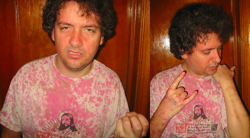 20081214 - after the Gwar concert - 173-7342-diptych-1173-7339 - Clint - pinked shirt - please click through to leave a comment on FlickR