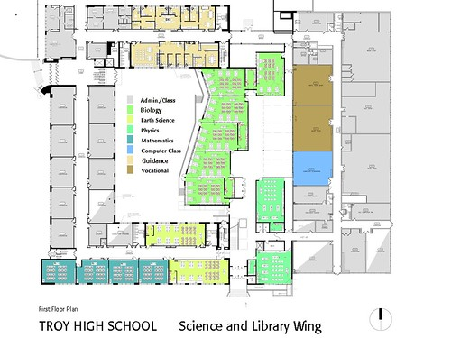 Troy High School Proposed First Floor Plan