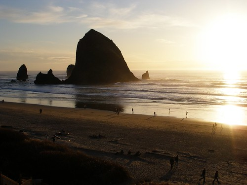 Haystack Rock - Sunset