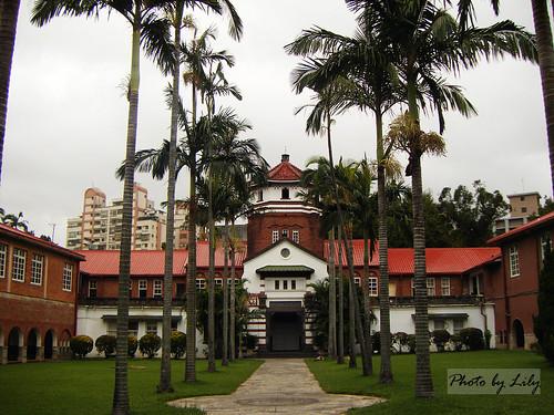 淡江中學著名的八角樓。