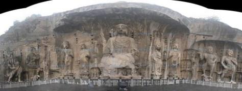 China: Longmen panorama