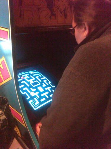 Me, kicking ass at Ms. Pac-Man