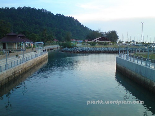 The whole Tioman Marina can be seen clearly from here.