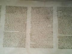 Hebrew Torah Scroll