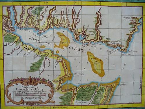 Old map of Colonia del Sacramento