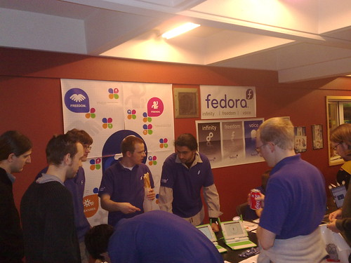 The Fedora booth