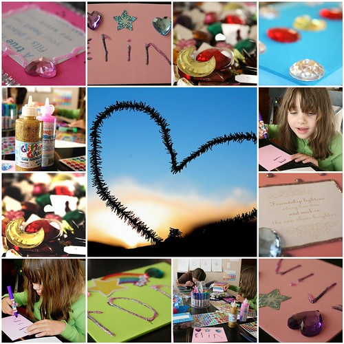it takes a village worth of crafts to make valentines cards.