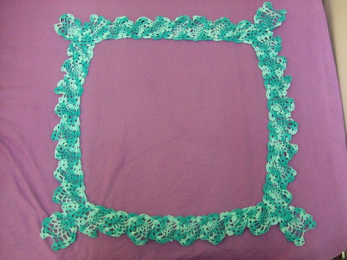 turquoise variegated deep lace edging
