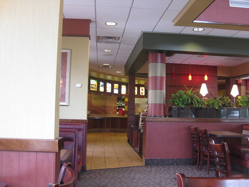 Arby's dining area