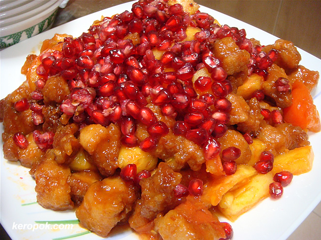 Sweet and Sour pork with pomegranates