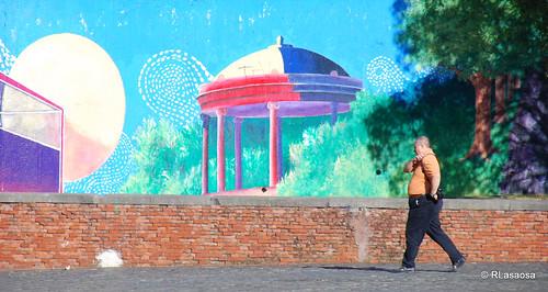 Graffitis en la Plaza de los Fueros
