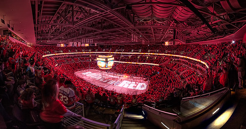 """Rock The Red (Wide) at Verizon Center"" by clydeorama -- image via flickr"