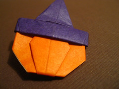 Witch Pumpkin Origami
