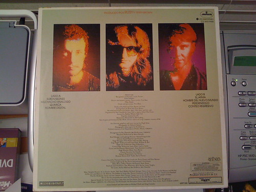Rush - Signals, in Spanish, back side