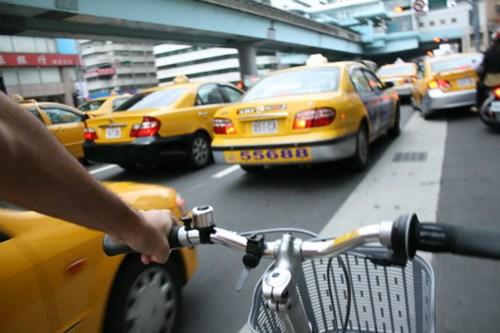 Me in Taipei traffic