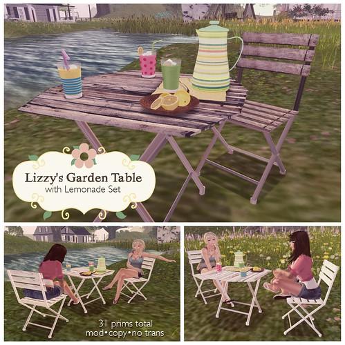 Lizzy's Garden Table for Super Bargain Saturday