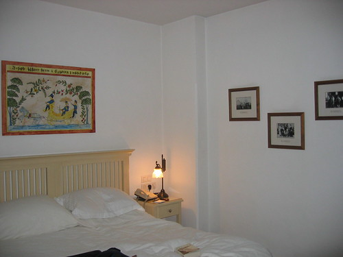 Hotel room with Swedish decor in the American Colony, Jerusalem