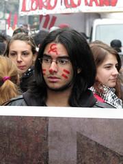 Sciopero della scuola contro il decreto Gelmini.