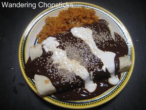 Chicken Enchiladas with Nutella Mole Poblano 3