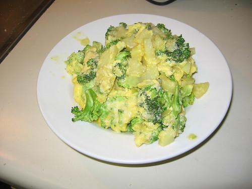 Potato and broccoli frittata
